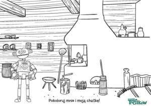 KOLOROWANKA 01 Chatka Robobota
