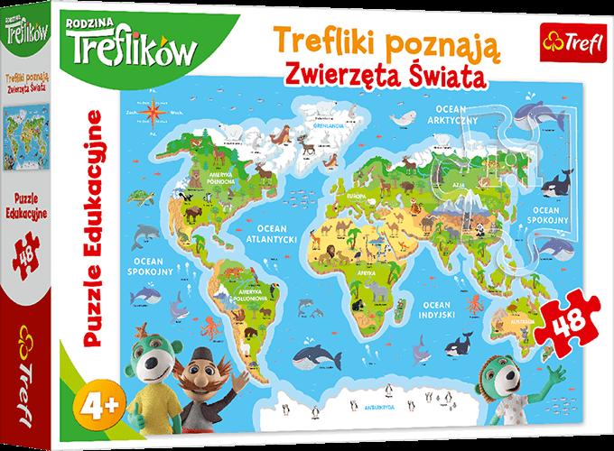 Nagroda gwarantowana wkonkursie Trefliki poznają Zwierzęta Świata