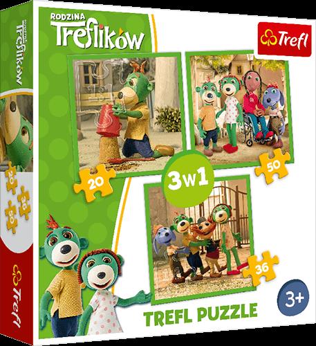 Nagroda gwarantowana wkonkursie Trefl Puzzle 3 w1 Rodzina Treflików