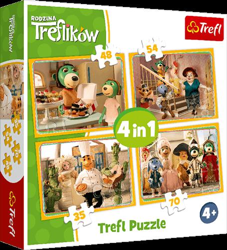 Nagroda gwarantowana wkonkursie Trefl Puzzle 4 w1 Rodzina Treflików